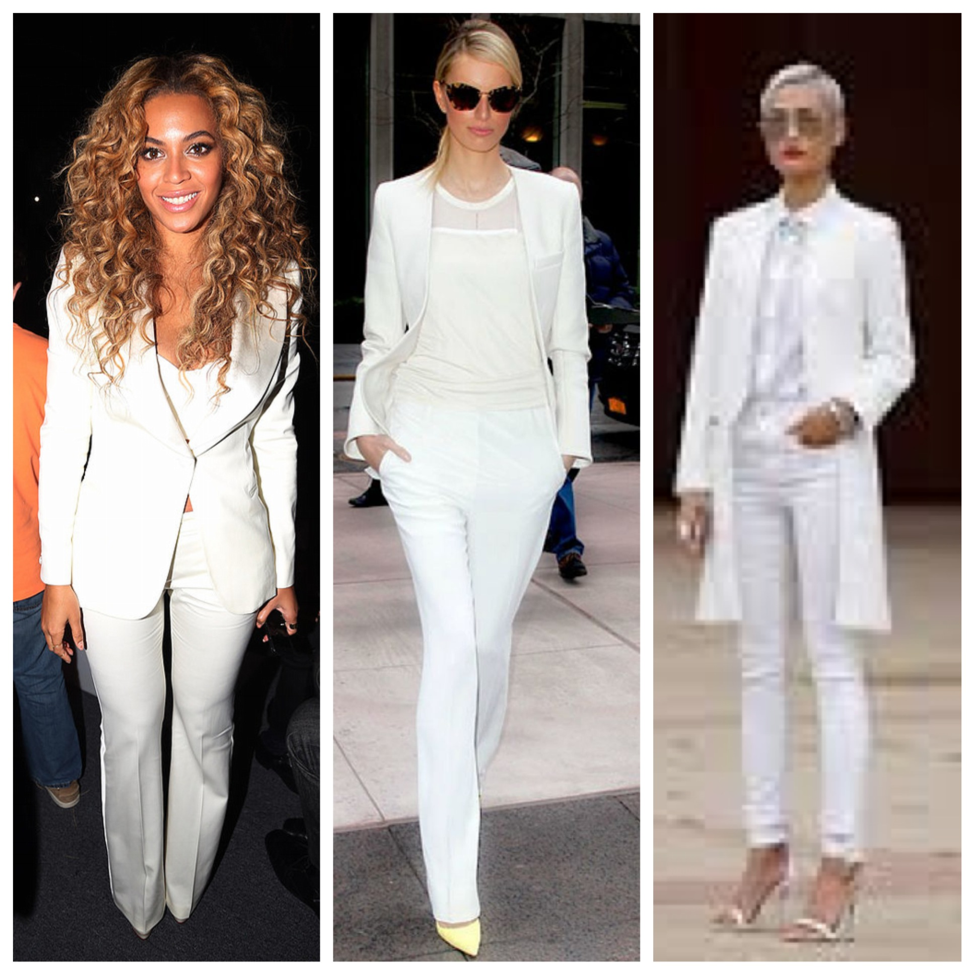 All White Womens Suit Dress Yy