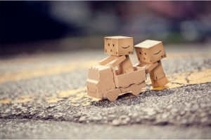 Blog_Paper_Toy_papertoy_Danbo_playing